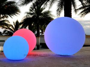 Jardín iluminado LED grande balón redondo decorativos