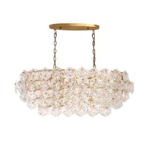 Hôtel moderne de luxe pendentif cristal lustre, bâti en laiton antique, mettre en place pour la cuisine, restaurant, salle à manger et salle de séjour