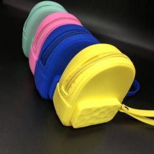 2018 lindo de la Bolsa de silicona silicona Schoolbag forma bolsas de monedas