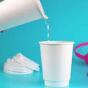 Coupe du papier à double paroi jetables pour le café de l'eau des boissons chaudes