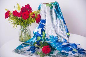 Stof van de Jacquard van de Polyester van de Luxe van de Fabrikant van China de Zachte voor Kleding