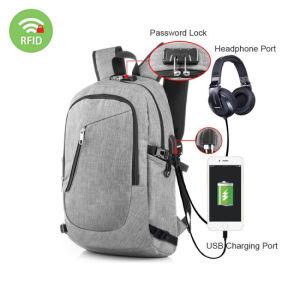 d21f4ba6c4a Escuela de puerto USB de carga la mochila, Bolso mochila de la moda de 15,6  pulgadas, Antirrobo Custom Mochila para portátil de negocios