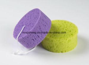 특별한 아름다운 니스 거품 필터 갯솜을%s 가진 둥근 목욕 갯솜