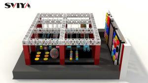 La sosta del trampolino di disegno di Colordul scherza il trampolino dell'interno con la rete di sicurezza