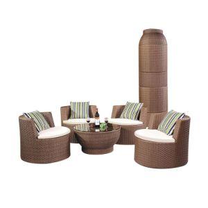 El mejor mobiliario contemporáneo ronda mesa de comedor con 4 sillas ...