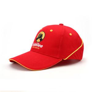 6 panel 3D personalizadas bordados gorra de béisbol con Sandwhich