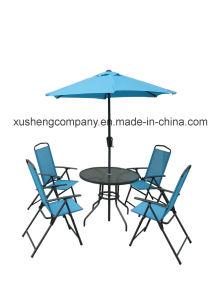 6pzas moderno mobiliario de acero fijados por el cuadro+Sillas+paraguas