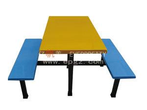 2015 moderno Red 4 Lugares mesa de jantar e bancada com fibra de vidro e metal Superior da Estrutura da perna DT-09