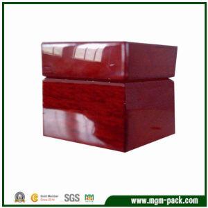 Estilo contratado alto brillo rojo Caja de almacenamiento de madera