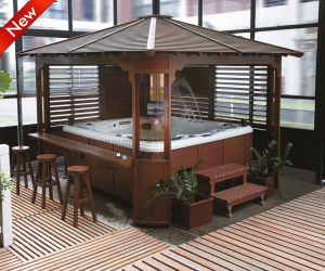 Draagbare OpenluchtAcrylic Massage Bathtub SPA (SR861)