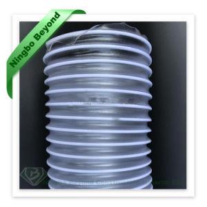 China Espiral transparente fosco PU Fabricante de borracha flexível