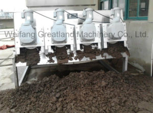 schraubenartiger Klärschlamm-entwässernmaschinen-Wasserbehandlung-Maschine des Stapel-3000mg/L