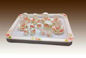 Набор для приготовления чая и кофе 26ПК цветок Handpaint Китая