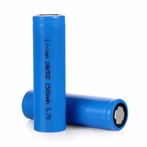 Superfície superior plana 3.7V 1500mAh recarregável 18650 Bateria de lítio íon de lítio para notebook