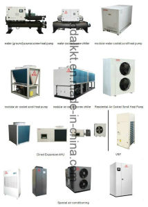 Residenciales Comerciales industriales Chineseb enfriado por aire Chiller Modular de desplazamiento/Bombas de calor