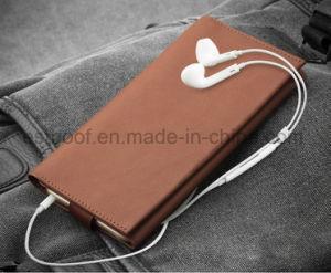 Caja de cuero verdadera del teléfono móvil para el iPhone