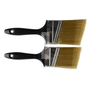 Qualitäts-schwarzer Plastikgriff mit Abdachungs-goldenem Haustier-Lack-Pinsel 2