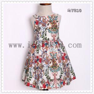 ccfa6e146d10 Un abbigliamento floreale dei 2017 di modo del reticolo delle ragazze da  estate bambini del vestito