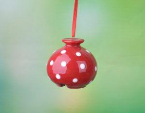 De nieuwe Met de hand gemaakte Ceramische Klok van het Klokkengelui van de Wind van de Klei van het Ornament van Kerstmis