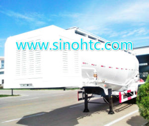 SINOHTC는 대량 시멘트 유조선 트레일러를 반 말린다