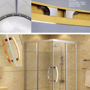 Aço inoxidável Square Chuveiro tela de vidro chuveiro Banho de cabina Cabina de Duche