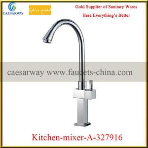 Mixer van het Water van de Keuken van de Terugtrekking van het messing de Dek Opgezette