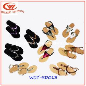 Haut sandales de filtre en coin Flip Flops de mode pour dames
