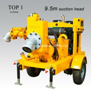 Motor Diesel montado en el trailer de la bomba de deshidratación
