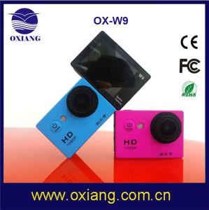 Control de aplicaciones inalámbricas deportiva resistente al agua de 1080P cámara DV