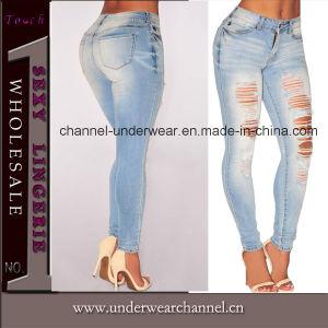 Lady Fashion Legging denim jeans taille haute (T78647)