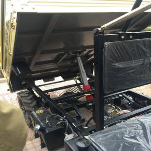 Diesel de 800cc Agricultor ATV Quad con Remolque y el Malacate