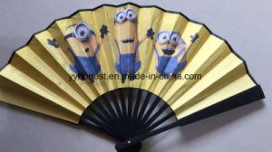 Cadeau unique caricature artisanaux décoratifs bambou ventilateur de la main de pliage