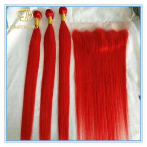 Heißes Grad-Farben-Haar der Verkaufs-8A des Bündel Matchs Schliessens und des frontalen Cwf-001