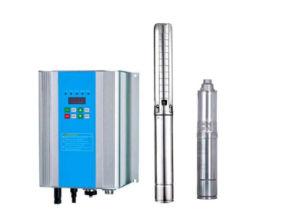 Pompa ad acqua sulla pompa ad acqua solare a energia solare del pozzo profondo