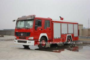 De Vrachtwagen van de Brand van het Merk HOWO met 8m3 de Tank van het Water