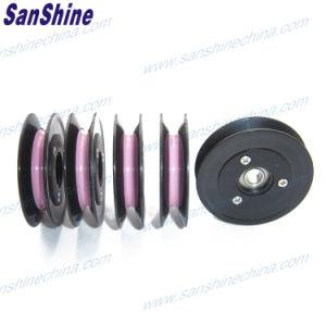 La brida de la polea de guías de cable (cable rodillo)
