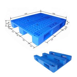 Serviço Pesado 1200*1000 Tubos de Aço Pesado Virgem reforçado de HDPE Euro palete de plástico para paletes