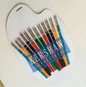 Artista Brush (ARTIST PAINTING BRUSH ROUND HEAD 24PCS-SET, capelli del cavallo e manopola di legno)