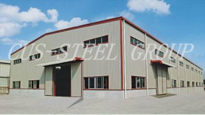 Estructura de acero de la luz de bajo coste para almacén o fábrica