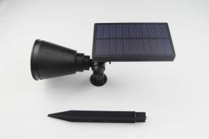一義的なデザインBackayardの芝生センサーの黒の太陽エネルギーライト