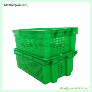 Ventilados los envases de frutas de plástico apilables cajas de vegetales para ventas