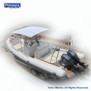La nervadura830 Ce aprobada Hypalon/PVC Barco Rib