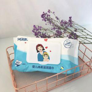 OEM/ODM Soft Cremas Limpieza de las toallitas húmedas para el bebé