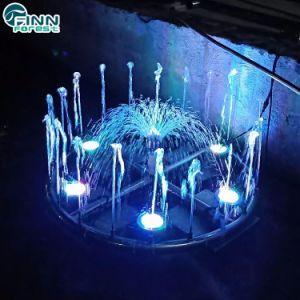 Cor da luz de LED de exterior alterável Fonte de dança musical