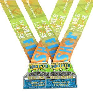 Personnaliser en alliage de zinc métal Marathon Sports Racing 10K 12K 5K de l'exécution Awards médaillon Médaille Médaille personnalisée du module de finition