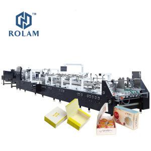 Automatische Vier Omslag van het Vakje van de Cake van het Voedsel van de Gift van het Document van Zes Hoek de Verpakkende Gluer/het Vouwen van het Lijmen Makend Machine (gk-1100GS)