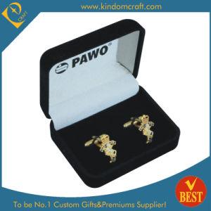 Gouden Cufflinks Van uitstekende kwaliteit van de Luxe van de Manier van het Overhemd van mensen met de Doos van de Verpakking van de Gift