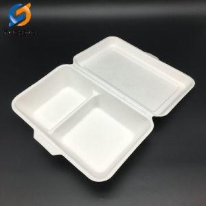 1000ml 2 Compartiment de la canne à sucre biodégradables Food Box