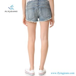 Il modo donne/della signora si è sbiadetto Shorts sfilacciati scarni del denim dei pantaloni dei jeans dei polsini mini da Manufacturer