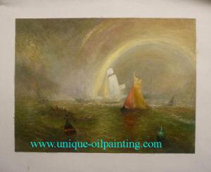 Olieverfschilderij van het Zeegezicht van de Kwaliteit van het museum het Met de hand gemaakte